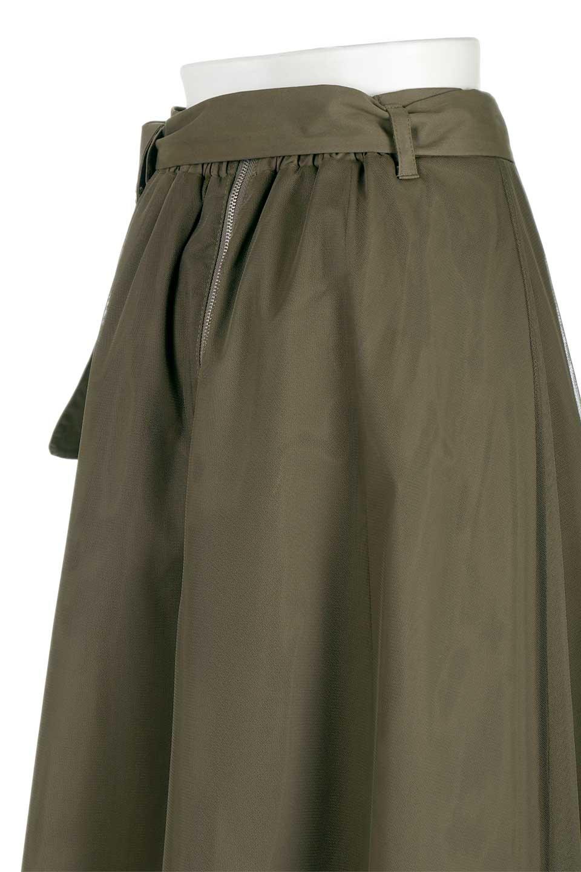 TulleLayeredLongSkirtチュールレイヤード・ロングスカート大人カジュアルに最適な海外ファッションのothers(その他インポートアイテム)のボトムやスカート。チュールとチノ素材のレイヤード・ロングスカート。ミリタリーやワーク系のディテールを透け感のあるチュールが優しく包んだスカートです。/main-7