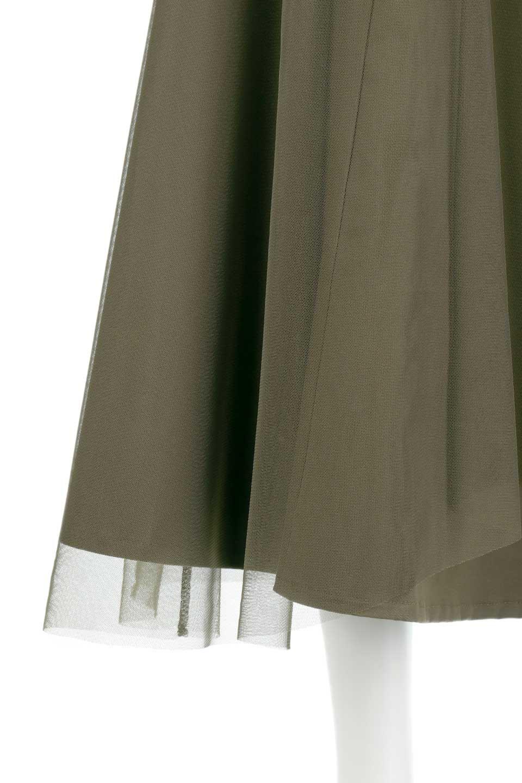 TulleLayeredLongSkirtチュールレイヤード・ロングスカート大人カジュアルに最適な海外ファッションのothers(その他インポートアイテム)のボトムやスカート。チュールとチノ素材のレイヤード・ロングスカート。ミリタリーやワーク系のディテールを透け感のあるチュールが優しく包んだスカートです。/main-9