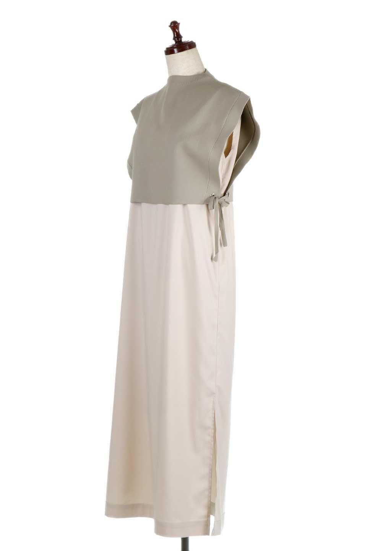 SummerKnitLayeredMaxiDressサマーニット・レイヤードワンピース大人カジュアルに最適な海外ファッションのothers(その他インポートアイテム)のワンピースやマキシワンピース。サマーニットベストとの重ね着が可愛いレイヤードマキシワンピース。コンサバ感の中にも色気を感じるサイドスリットがポイント。/main-1