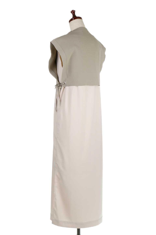 SummerKnitLayeredMaxiDressサマーニット・レイヤードワンピース大人カジュアルに最適な海外ファッションのothers(その他インポートアイテム)のワンピースやマキシワンピース。サマーニットベストとの重ね着が可愛いレイヤードマキシワンピース。コンサバ感の中にも色気を感じるサイドスリットがポイント。/main-3