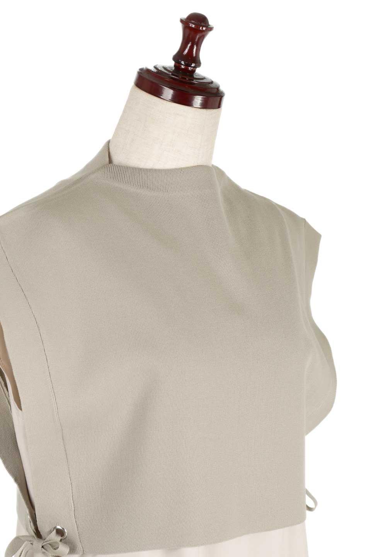 SummerKnitLayeredMaxiDressサマーニット・レイヤードワンピース大人カジュアルに最適な海外ファッションのothers(その他インポートアイテム)のワンピースやマキシワンピース。サマーニットベストとの重ね着が可愛いレイヤードマキシワンピース。コンサバ感の中にも色気を感じるサイドスリットがポイント。/main-5