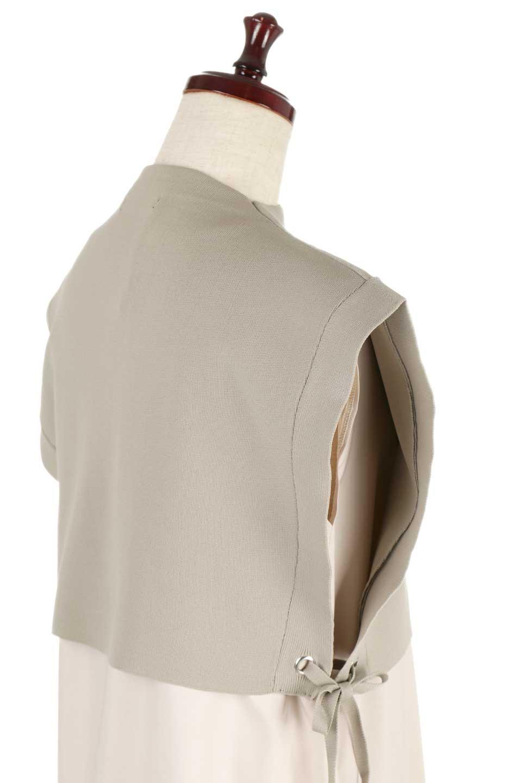 SummerKnitLayeredMaxiDressサマーニット・レイヤードワンピース大人カジュアルに最適な海外ファッションのothers(その他インポートアイテム)のワンピースやマキシワンピース。サマーニットベストとの重ね着が可愛いレイヤードマキシワンピース。コンサバ感の中にも色気を感じるサイドスリットがポイント。/main-6