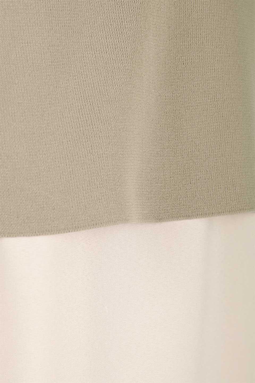 SummerKnitLayeredMaxiDressサマーニット・レイヤードワンピース大人カジュアルに最適な海外ファッションのothers(その他インポートアイテム)のワンピースやマキシワンピース。サマーニットベストとの重ね着が可愛いレイヤードマキシワンピース。コンサバ感の中にも色気を感じるサイドスリットがポイント。/main-9