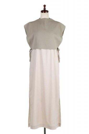 Summer Knit Layered Maxi Dress サマーニット・レイヤードワンピース / 大人カジュアルに最適な海外ファッションが得意な福島市のセレクトショップbloom