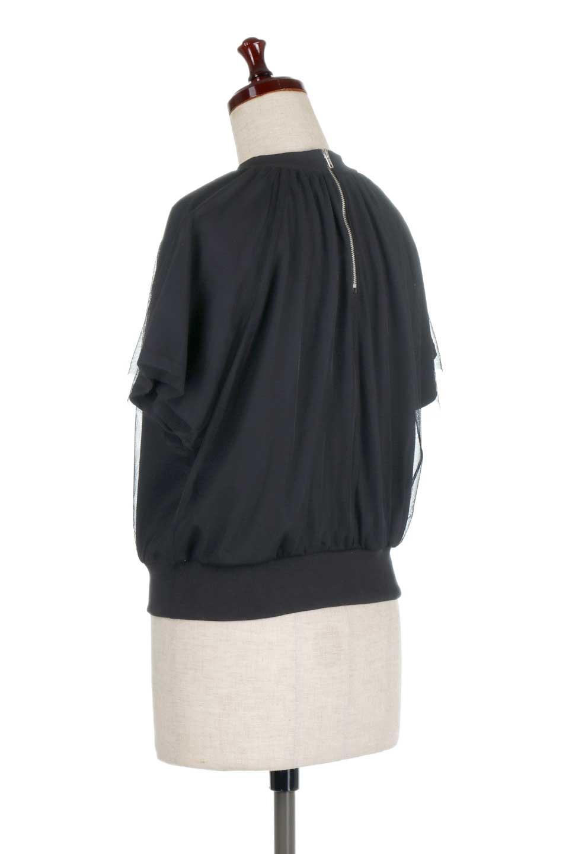 TulleLayeredPullOverTopチュールレイヤード・プルオーバートップス大人カジュアルに最適な海外ファッションのothers(その他インポートアイテム)のトップスやカットソー。透け感のあるチュールをレイヤードさせたプルオーバートップス。透け感がありシワになりにくいチュール素材に、肌触りの良いTシャツを組み合わせた可愛らしいデザイン。/main-13