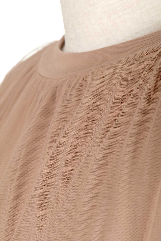 TulleLayeredPullOverTopチュールレイヤード・プルオーバートップス大人カジュアルに最適な海外ファッションのothers(その他インポートアイテム)のトップスやカットソー。透け感のあるチュールをレイヤードさせたプルオーバートップス。透け感がありシワになりにくいチュール素材に、肌触りの良いTシャツを組み合わせた可愛らしいデザイン。/main-18
