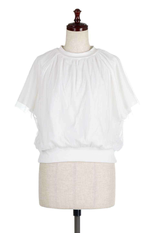 TulleLayeredPullOverTopチュールレイヤード・プルオーバートップス大人カジュアルに最適な海外ファッションのothers(その他インポートアイテム)のトップスやカットソー。透け感のあるチュールをレイヤードさせたプルオーバートップス。透け感がありシワになりにくいチュール素材に、肌触りの良いTシャツを組み合わせた可愛らしいデザイン。/main-5