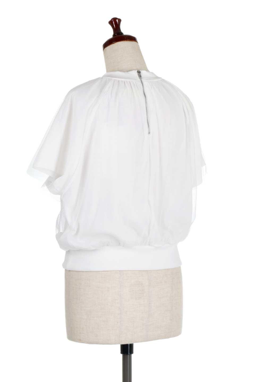 TulleLayeredPullOverTopチュールレイヤード・プルオーバートップス大人カジュアルに最適な海外ファッションのothers(その他インポートアイテム)のトップスやカットソー。透け感のあるチュールをレイヤードさせたプルオーバートップス。透け感がありシワになりにくいチュール素材に、肌触りの良いTシャツを組み合わせた可愛らしいデザイン。/main-8