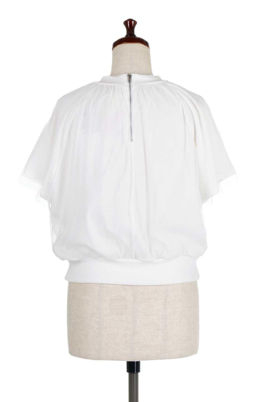 TulleLayeredPullOverTopチュールレイヤード・プルオーバートップス大人カジュアルに最適な海外ファッションのothers(その他インポートアイテム)のトップスやカットソー。透け感のあるチュールをレイヤードさせたプルオーバートップス。透け感がありシワになりにくいチュール素材に、肌触りの良いTシャツを組み合わせた可愛らしいデザイン。/main-9