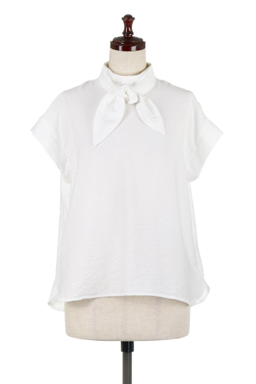 RibbonTiedHighNeckBlouseスカーフネックブラウス大人カジュアルに最適な海外ファッションのothers(その他インポートアイテム)のトップスやシャツ・ブラウス。話題のスカーフネックがポイントのブラウス。暑い時期にちょうどよい張りのある生地は風通しもよく涼し気なアイテムです。/main-5