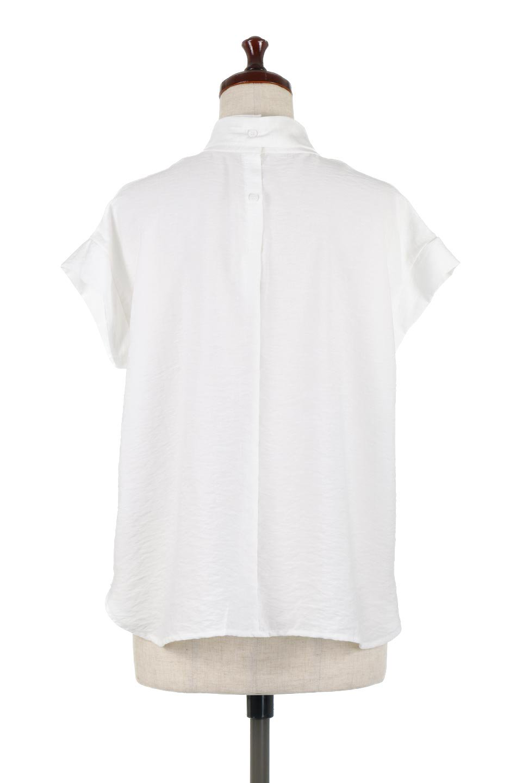 RibbonTiedHighNeckBlouseスカーフネックブラウス大人カジュアルに最適な海外ファッションのothers(その他インポートアイテム)のトップスやシャツ・ブラウス。話題のスカーフネックがポイントのブラウス。暑い時期にちょうどよい張りのある生地は風通しもよく涼し気なアイテムです。/main-9