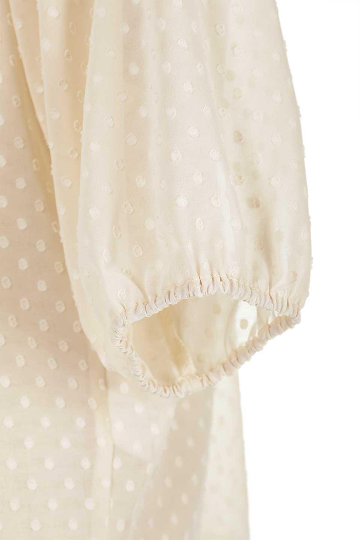 DobbyClothTuckBlouseドビー生地・タックブラウス大人カジュアルに最適な海外ファッションのothers(その他インポートアイテム)のトップスやシャツ・ブラウス。透け感のあるカットドビーの素材感を活かしたパフスリーブブラウス。首元のタックから伸びるドレープと程よい着丈の長さで着回しやすさ抜群のブラウスです。/main-24