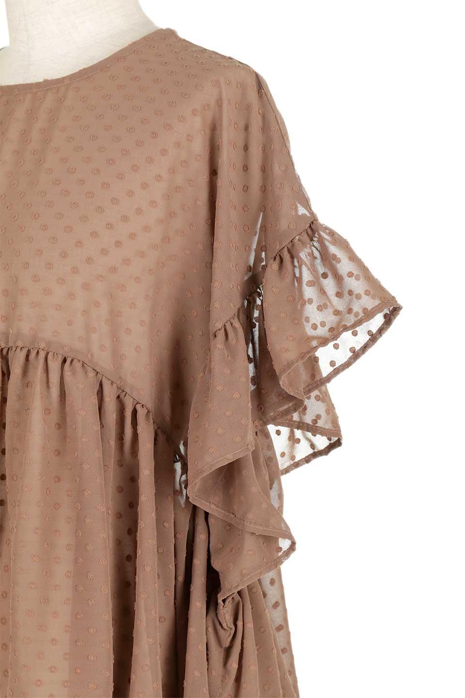 DobbyClothRuffleBlouseドビー生地・フリルブラウス大人カジュアルに最適な海外ファッションのothers(その他インポートアイテム)のトップスやシャツ・ブラウス。総柄で落ち着きのある透け感が可愛らしい、ドビー生地のフリルブラウス。様々なインナーで合わせられる夏らしい爽やかなブラウスです。/main-18