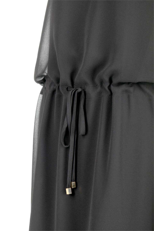 FrenchSleeveLayeredDressウエストドロスト・レイヤードワンピース大人カジュアルに最適な海外ファッションのothers(その他インポートアイテム)のワンピースやミディワンピース。ウエストで絞り具合を調節できるフレンチスリーブのワンピース。透け感のあるシフォン素材とカットソー素材の組み合わせで、上品なレイヤード感が楽しめるアイテムです。/main-12