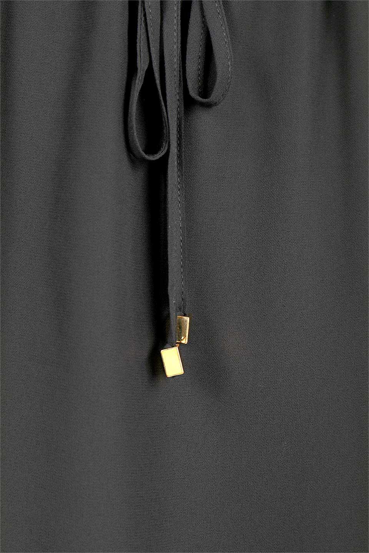 FrenchSleeveLayeredDressウエストドロスト・レイヤードワンピース大人カジュアルに最適な海外ファッションのothers(その他インポートアイテム)のワンピースやミディワンピース。ウエストで絞り具合を調節できるフレンチスリーブのワンピース。透け感のあるシフォン素材とカットソー素材の組み合わせで、上品なレイヤード感が楽しめるアイテムです。/main-13