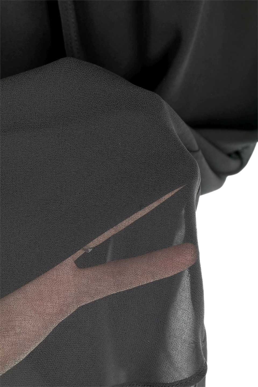 FrenchSleeveLayeredDressウエストドロスト・レイヤードワンピース大人カジュアルに最適な海外ファッションのothers(その他インポートアイテム)のワンピースやミディワンピース。ウエストで絞り具合を調節できるフレンチスリーブのワンピース。透け感のあるシフォン素材とカットソー素材の組み合わせで、上品なレイヤード感が楽しめるアイテムです。/main-15