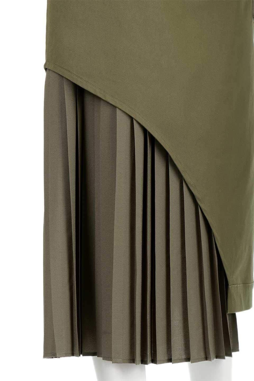 AsymmetricalPleatedCargoSkirtプリーツ&カーゴポケット・アシメントリースカート大人カジュアルに最適な海外ファッションのothers(その他インポートアイテム)のボトムやスカート。ミリタリーテイストをアレンジしたアシメントリーなデザインのロングスカート。ミリタリーやワーク風のハードな雰囲気と、膝下から伸びる丸みを帯びたカットから覗くフェミニンなプリーツの甘辛コンビネーション。/main-16