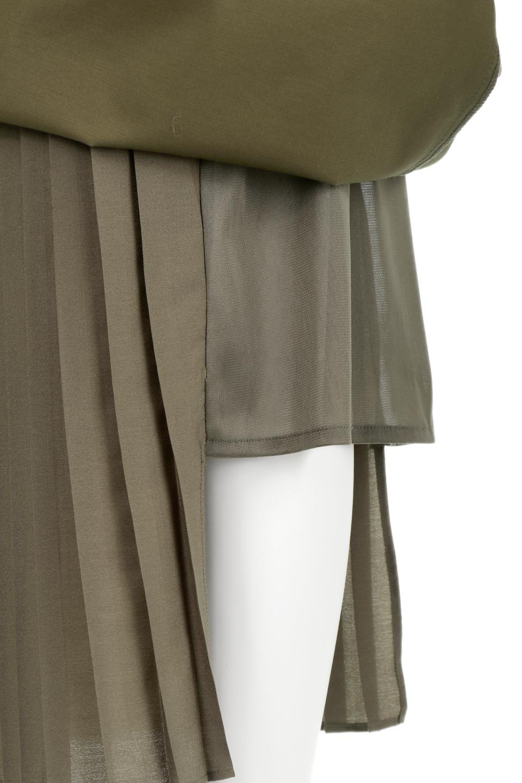 AsymmetricalPleatedCargoSkirtプリーツ&カーゴポケット・アシメントリースカート大人カジュアルに最適な海外ファッションのothers(その他インポートアイテム)のボトムやスカート。ミリタリーテイストをアレンジしたアシメントリーなデザインのロングスカート。ミリタリーやワーク風のハードな雰囲気と、膝下から伸びる丸みを帯びたカットから覗くフェミニンなプリーツの甘辛コンビネーション。/main-18