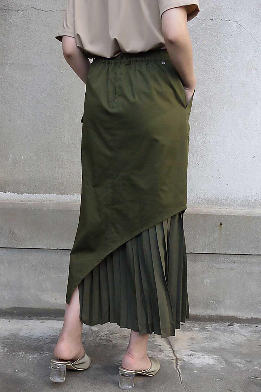 AsymmetricalPleatedCargoSkirtプリーツ&カーゴポケット・アシメントリースカート大人カジュアルに最適な海外ファッションのothers(その他インポートアイテム)のボトムやスカート。ミリタリーテイストをアレンジしたアシメントリーなデザインのロングスカート。ミリタリーやワーク風のハードな雰囲気と、膝下から伸びる丸みを帯びたカットから覗くフェミニンなプリーツの甘辛コンビネーション。/main-25