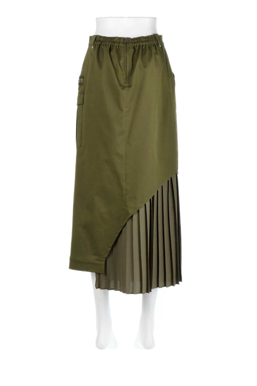 AsymmetricalPleatedCargoSkirtプリーツ&カーゴポケット・アシメントリースカート大人カジュアルに最適な海外ファッションのothers(その他インポートアイテム)のボトムやスカート。ミリタリーテイストをアレンジしたアシメントリーなデザインのロングスカート。ミリタリーやワーク風のハードな雰囲気と、膝下から伸びる丸みを帯びたカットから覗くフェミニンなプリーツの甘辛コンビネーション。/main-4