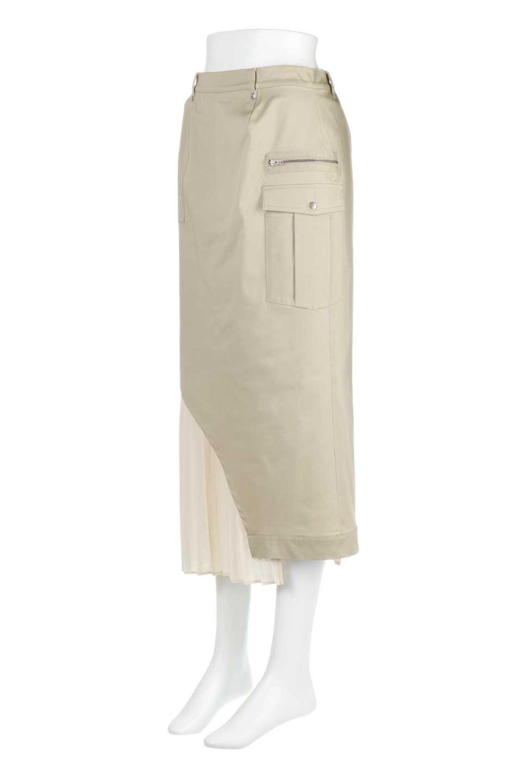 AsymmetricalPleatedCargoSkirtプリーツ&カーゴポケット・アシメントリースカート大人カジュアルに最適な海外ファッションのothers(その他インポートアイテム)のボトムやスカート。ミリタリーテイストをアレンジしたアシメントリーなデザインのロングスカート。ミリタリーやワーク風のハードな雰囲気と、膝下から伸びる丸みを帯びたカットから覗くフェミニンなプリーツの甘辛コンビネーション。/main-6