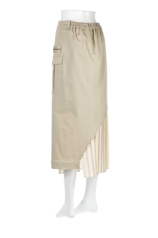 AsymmetricalPleatedCargoSkirtプリーツ&カーゴポケット・アシメントリースカート大人カジュアルに最適な海外ファッションのothers(その他インポートアイテム)のボトムやスカート。ミリタリーテイストをアレンジしたアシメントリーなデザインのロングスカート。ミリタリーやワーク風のハードな雰囲気と、膝下から伸びる丸みを帯びたカットから覗くフェミニンなプリーツの甘辛コンビネーション。/main-8
