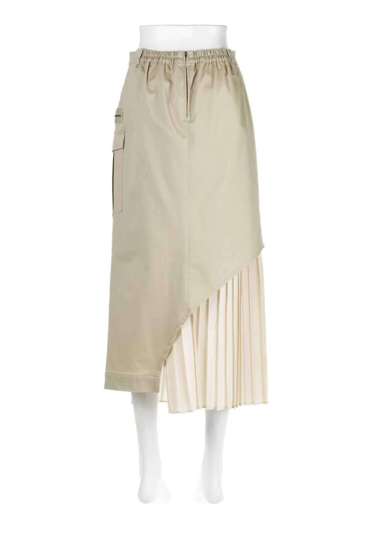 AsymmetricalPleatedCargoSkirtプリーツ&カーゴポケット・アシメントリースカート大人カジュアルに最適な海外ファッションのothers(その他インポートアイテム)のボトムやスカート。ミリタリーテイストをアレンジしたアシメントリーなデザインのロングスカート。ミリタリーやワーク風のハードな雰囲気と、膝下から伸びる丸みを帯びたカットから覗くフェミニンなプリーツの甘辛コンビネーション。/main-9