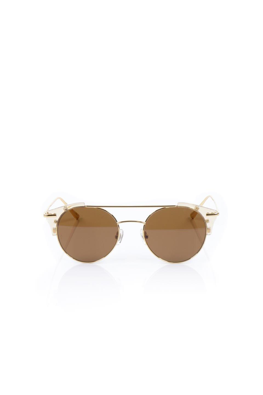 WONDERLANDのRIALTO(03-ClearBeach&Gold/BronzeLens)リアルト・メタルフレーム・サングラス/WONDERLANDのメガネ・サングラスや。丸型レンズで人気のIndioよりヴィンテージかつエレガントにアップデートされたモデル。両サイドの「ヨロイ」と呼ばれる箇所に装飾を施しているため、着用時には単なる丸型レンズとは違った印象になります。