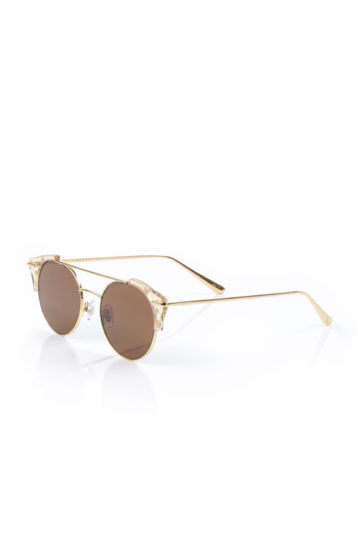 WONDERLANDのRIALTO(03-ClearBeach&Gold/BronzeLens)リアルト・メタルフレーム・サングラス/WONDERLANDのメガネ・サングラスや。丸型レンズで人気のIndioよりヴィンテージかつエレガントにアップデートされたモデル。両サイドの「ヨロイ」と呼ばれる箇所に装飾を施しているため、着用時には単なる丸型レンズとは違った印象になります。/main-1