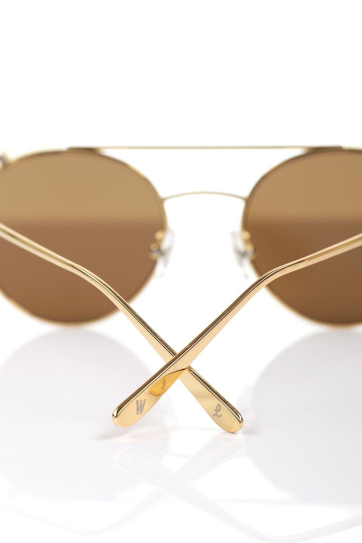 WONDERLANDのRIALTO(03-ClearBeach&Gold/BronzeLens)リアルト・メタルフレーム・サングラス/WONDERLANDのメガネ・サングラスや。丸型レンズで人気のIndioよりヴィンテージかつエレガントにアップデートされたモデル。両サイドの「ヨロイ」と呼ばれる箇所に装飾を施しているため、着用時には単なる丸型レンズとは違った印象になります。/main-11