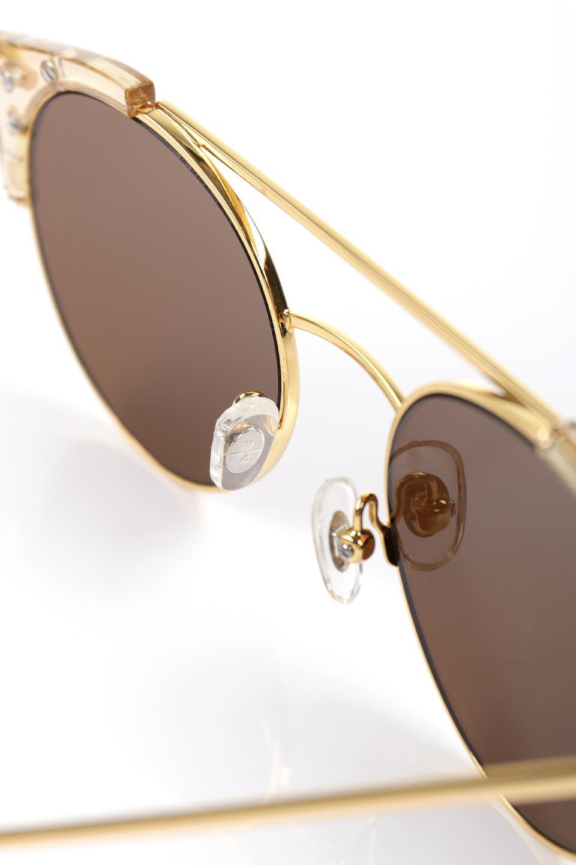 WONDERLANDのRIALTO(03-ClearBeach&Gold/BronzeLens)リアルト・メタルフレーム・サングラス/WONDERLANDのメガネ・サングラスや。丸型レンズで人気のIndioよりヴィンテージかつエレガントにアップデートされたモデル。両サイドの「ヨロイ」と呼ばれる箇所に装飾を施しているため、着用時には単なる丸型レンズとは違った印象になります。/main-12