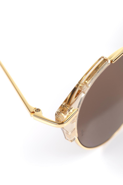 WONDERLANDのRIALTO(03-ClearBeach&Gold/BronzeLens)リアルト・メタルフレーム・サングラス/WONDERLANDのメガネ・サングラスや。丸型レンズで人気のIndioよりヴィンテージかつエレガントにアップデートされたモデル。両サイドの「ヨロイ」と呼ばれる箇所に装飾を施しているため、着用時には単なる丸型レンズとは違った印象になります。/main-13