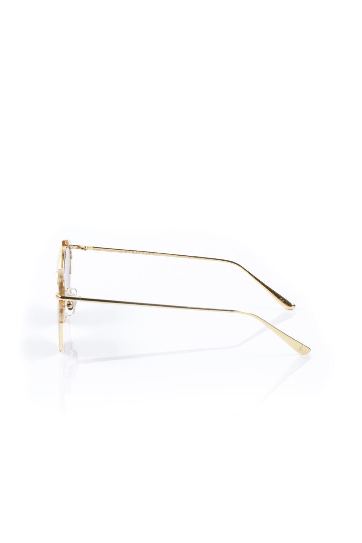 WONDERLANDのRIALTO(03-ClearBeach&Gold/BronzeLens)リアルト・メタルフレーム・サングラス/WONDERLANDのメガネ・サングラスや。丸型レンズで人気のIndioよりヴィンテージかつエレガントにアップデートされたモデル。両サイドの「ヨロイ」と呼ばれる箇所に装飾を施しているため、着用時には単なる丸型レンズとは違った印象になります。/main-2