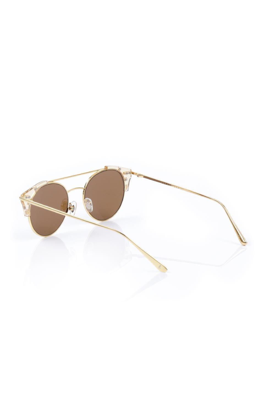 WONDERLANDのRIALTO(03-ClearBeach&Gold/BronzeLens)リアルト・メタルフレーム・サングラス/WONDERLANDのメガネ・サングラスや。丸型レンズで人気のIndioよりヴィンテージかつエレガントにアップデートされたモデル。両サイドの「ヨロイ」と呼ばれる箇所に装飾を施しているため、着用時には単なる丸型レンズとは違った印象になります。/main-3