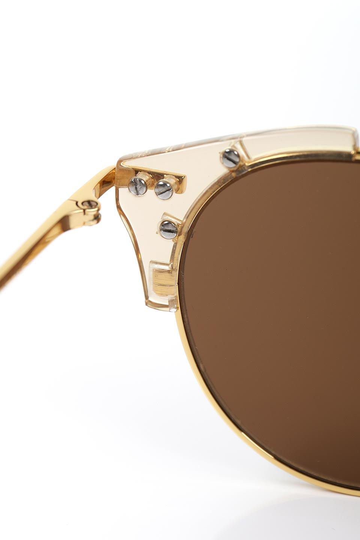 WONDERLANDのRIALTO(03-ClearBeach&Gold/BronzeLens)リアルト・メタルフレーム・サングラス/WONDERLANDのメガネ・サングラスや。丸型レンズで人気のIndioよりヴィンテージかつエレガントにアップデートされたモデル。両サイドの「ヨロイ」と呼ばれる箇所に装飾を施しているため、着用時には単なる丸型レンズとは違った印象になります。/main-9