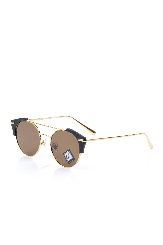 WONDERLANDのRIALTO(01-MattBlack&Gold/BronzePolarizedLens)リアルト・メタルフレーム・サングラス/WONDERLANDのメガネ・サングラスや。丸型レンズで人気のIndioよりヴィンテージかつエレガントにアップデートされたモデル。両サイドの「ヨロイ」と呼ばれる箇所に装飾を施しているため、着用時には単なる丸型レンズとは違った印象になります。/main-1
