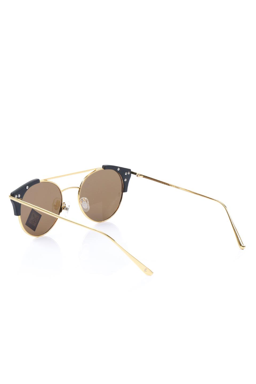 WONDERLANDのRIALTO(01-MattBlack&Gold/BronzePolarizedLens)リアルト・メタルフレーム・サングラス/WONDERLANDのメガネ・サングラスや。丸型レンズで人気のIndioよりヴィンテージかつエレガントにアップデートされたモデル。両サイドの「ヨロイ」と呼ばれる箇所に装飾を施しているため、着用時には単なる丸型レンズとは違った印象になります。/main-3