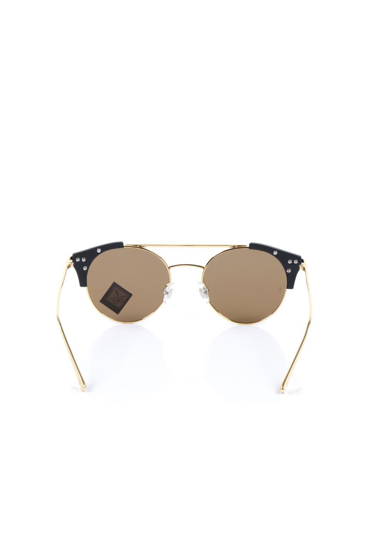 WONDERLANDのRIALTO(01-MattBlack&Gold/BronzePolarizedLens)リアルト・メタルフレーム・サングラス/WONDERLANDのメガネ・サングラスや。丸型レンズで人気のIndioよりヴィンテージかつエレガントにアップデートされたモデル。両サイドの「ヨロイ」と呼ばれる箇所に装飾を施しているため、着用時には単なる丸型レンズとは違った印象になります。/main-4