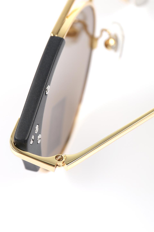 WONDERLANDのRIALTO(01-MattBlack&Gold/BronzePolarizedLens)リアルト・メタルフレーム・サングラス/WONDERLANDのメガネ・サングラスや。丸型レンズで人気のIndioよりヴィンテージかつエレガントにアップデートされたモデル。両サイドの「ヨロイ」と呼ばれる箇所に装飾を施しているため、着用時には単なる丸型レンズとは違った印象になります。/main-7