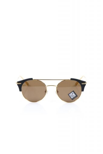 WONDERLANDのRIALTO (01-Matt Black & Gold/ Bronze Polarized Lens) リアルト・メタルフレーム・サングラス