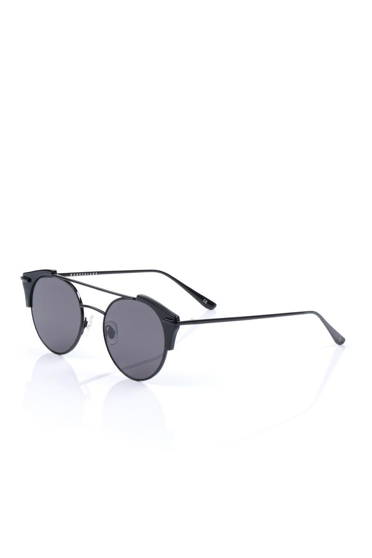 WONDERLANDのRIALTO(02-GlossBlack/GrayLens)リアルト・メタルフレーム・サングラス/WONDERLANDのメガネ・サングラスや。丸型レンズで人気のIndioよりヴィンテージかつエレガントにアップデートされたモデル。両サイドの「ヨロイ」と呼ばれる箇所に装飾を施しているため、着用時には単なる丸型レンズとは違った印象になります。/main-1
