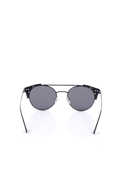 WONDERLANDのRIALTO(02-GlossBlack/GrayLens)リアルト・メタルフレーム・サングラス/WONDERLANDのメガネ・サングラスや。丸型レンズで人気のIndioよりヴィンテージかつエレガントにアップデートされたモデル。両サイドの「ヨロイ」と呼ばれる箇所に装飾を施しているため、着用時には単なる丸型レンズとは違った印象になります。/main-4