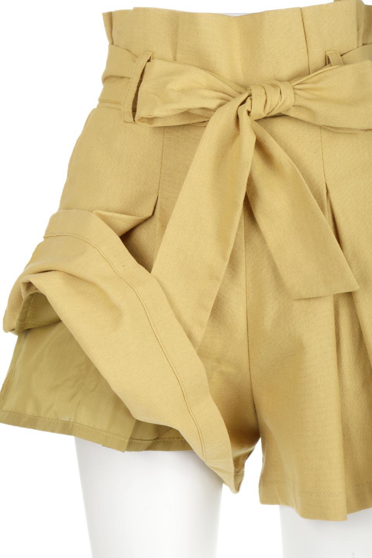 WaistRibbonTuckedShortPantsウエストリボン・タック入りショーツ大人カジュアルに最適な海外ファッションのothers(その他インポートアイテム)のボトムやパンツ。ウエストのリボンがアクセントのタック入りショートパンツ。張りのあるコットン素材なので綺麗なシルエットのままコーデが楽しめます。/main-21