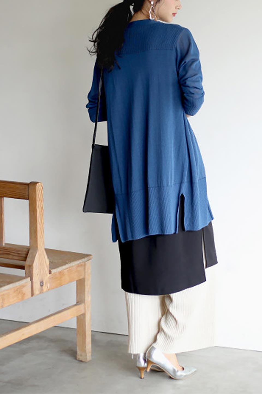 SideSlitMidLengthCardigansサイドスリット・ミディカーディガン大人カジュアルに最適な海外ファッションのothers(その他インポートアイテム)のトップスやニット・セーター。メーカーでは毎年完売の大人気定番アイテムのカーディガン。通気性に優れシャリ感があり、リネンのような素材で、触れると清涼感を感じる接触冷感素材。/main-26