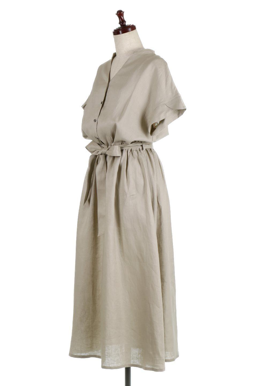 WaistRibbonLongLinenDress美シルエット・リネンワンピース大人カジュアルに最適な海外ファッションのothers(その他インポートアイテム)のワンピースやマキシワンピース。涼し気なリネン(麻)100%のロングワンピース。麻100%生地は吸湿速乾が特徴なので、暑い夏にもさらりと快適に着て頂けます。/main-1