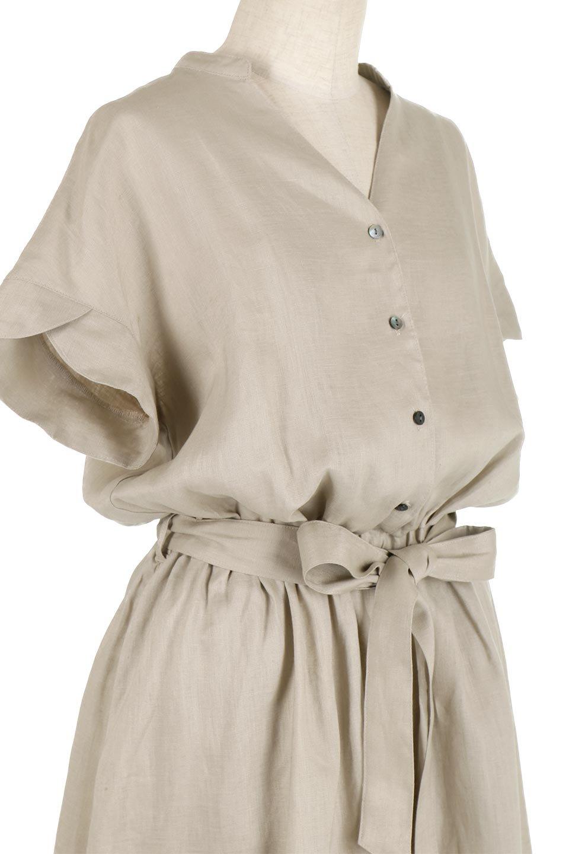 WaistRibbonLongLinenDress美シルエット・リネンワンピース大人カジュアルに最適な海外ファッションのothers(その他インポートアイテム)のワンピースやマキシワンピース。涼し気なリネン(麻)100%のロングワンピース。麻100%生地は吸湿速乾が特徴なので、暑い夏にもさらりと快適に着て頂けます。/main-10