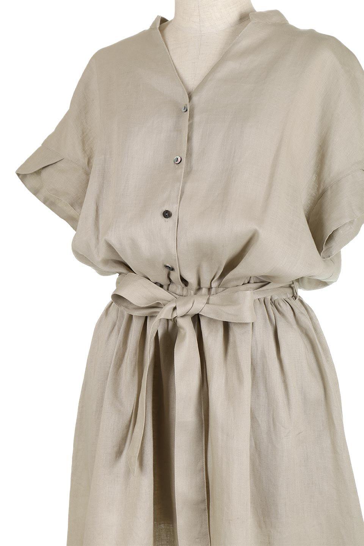 WaistRibbonLongLinenDress美シルエット・リネンワンピース大人カジュアルに最適な海外ファッションのothers(その他インポートアイテム)のワンピースやマキシワンピース。涼し気なリネン(麻)100%のロングワンピース。麻100%生地は吸湿速乾が特徴なので、暑い夏にもさらりと快適に着て頂けます。/main-11