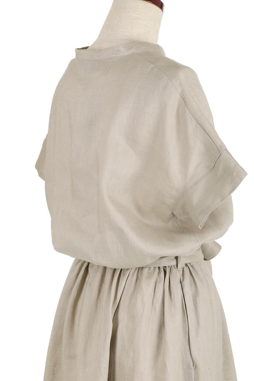 WaistRibbonLongLinenDress美シルエット・リネンワンピース大人カジュアルに最適な海外ファッションのothers(その他インポートアイテム)のワンピースやマキシワンピース。涼し気なリネン(麻)100%のロングワンピース。麻100%生地は吸湿速乾が特徴なので、暑い夏にもさらりと快適に着て頂けます。/main-12