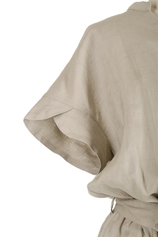 WaistRibbonLongLinenDress美シルエット・リネンワンピース大人カジュアルに最適な海外ファッションのothers(その他インポートアイテム)のワンピースやマキシワンピース。涼し気なリネン(麻)100%のロングワンピース。麻100%生地は吸湿速乾が特徴なので、暑い夏にもさらりと快適に着て頂けます。/main-15
