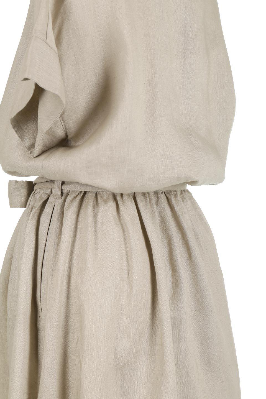 WaistRibbonLongLinenDress美シルエット・リネンワンピース大人カジュアルに最適な海外ファッションのothers(その他インポートアイテム)のワンピースやマキシワンピース。涼し気なリネン(麻)100%のロングワンピース。麻100%生地は吸湿速乾が特徴なので、暑い夏にもさらりと快適に着て頂けます。/main-17